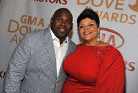 David Mann and Tamela Mann at the 43rd Annual GMA Dove Awards in Atlanta.