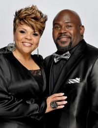 Tamela Mann and David Mann at the 41st NAACP Image Awards.