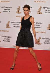 Gina Holden at the Golden Nymph awards ceremony during the 2008 Monte Carlo Television Festival.
