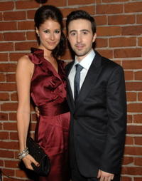 Amanda Crew and Josh Zuckerman at the L.A. premiere of