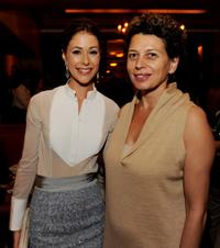 Amanda Crew and Donna Langley at the after party of the premiere of