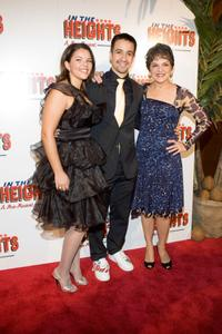 Vanessa Napal, Lin-Manuel Miranda and Priscilla Lopez at the after party of the opening night of
