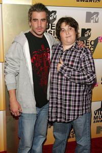 Jason Wahler and Andy Milonakis at the 2006 MTV Video Music Awards.
