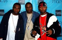 Roc-A-Fella Records recording artists Young Gunz and Juelz Santana at the Macy's Passport 2003 Teen Night.