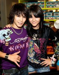 Boo Boo Stewart and Fivel Stewart at the re-opening of the Kitson Kids Robertson Location.