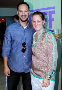 Jeff Zimbalist and Nancy Lefkowitz at the Filmmaker's Brunch during the 2010 Doha Tribeca Film Festival.