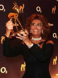 Sophia Loren winner of the Lifetime Achievement Award at Bambi Awards 2007.