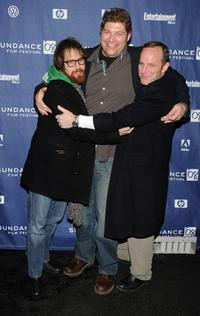 Sam Rockwell, Brad William Henke and Clark Gregg at the premiere of
