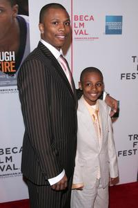 Sebastian Telfair and Ethan Telfair at the screening of