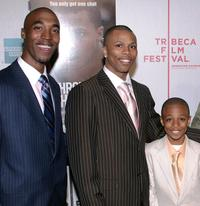 Alastair Christopher, Sebastian Telfair and Ethan Telfair at the screening of