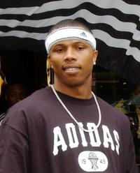 Sebastian Telfair at the opening of Adidas Performance Store.