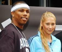 Sebastian Telfair and Anna Kournikova at the opening of Adidas Performance Store.
