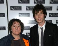 Eddie Redmayne and Christine Vachon at the premiere of
