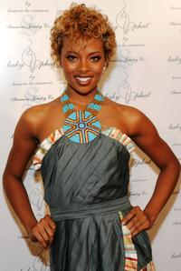 Eva Pigford at the Baby Phat Pre Party during the Olympus Fashion week.