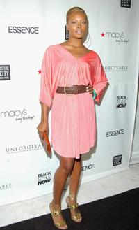 Eva Pigford at the Black Style Now Opening Night Gala during the Olympus Fashion week.