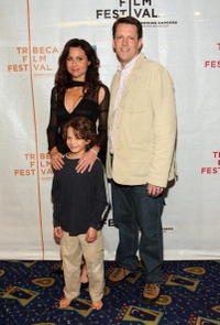 Minnie Driver, Bobby Coleman and director Charles Oliver at the premiere of