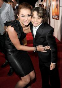 Miley Cyrus and Bobby Coleman at the premiere of