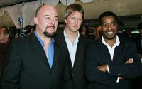 Jamie Bartlett, Director Tom Hooper and Chiwetel Ejiofor at the gala screening of