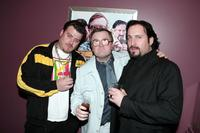 Robb Wells, Mike Smith and John Paul Tremblay at the premiere of