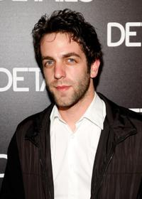 B.J. Novak at the DETAILS magazine Mavericks 2008 issue cocktail party.
