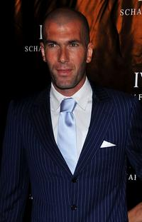 Zinedine Zidane at the Limited Edition IWC Watch Launch party.
