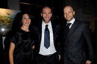 Veronique Zidane, Zinedine Zidane and Marc Forster at the IWC Private Dinner Reception.