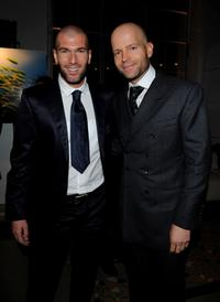Zinedine Zidane and Marc Forster at the IWC Private Dinner Reception.