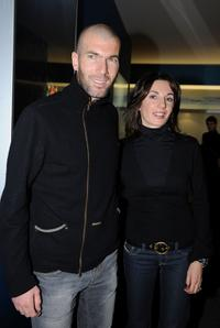 Zinedine Zidane and Veronique Zidane at the IWC Private Dinner Reception.