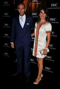 Zinedine Zidane and Veronique Fernandez at the Limited Edition IWC Watch Launch party.