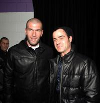 Zinedine Zidane and Justin Theroux at the Adidas Y-3 Autumn/Winter 2007 show during the Mercedes-Benz Fashion Week Fall 2007.