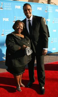 Cassi Davis and former NBA player Rick Fox at the 39th NAACP Image Awards.