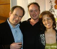 Hans Zimmer, Tom McGrath and Producer Mireille Soria at the