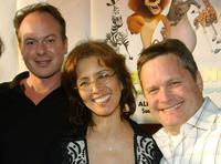 Tom McGrath, Producer Mireille Soria and Director Eric Darnell at the