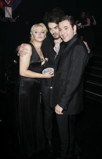 Courtney Love, Russell Brand and David Walliams at the British Comedy Awards 2006.