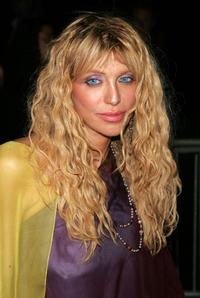 Courtney Love at the Marc Jacobs 2008 Fashion Show at the NY Armory during the Mercedes-Benz Fashion Week Spring 2008.