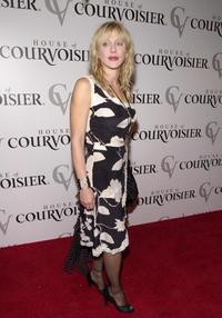 Courtney Love at the fashion show of designer Jeremy Scott's collection