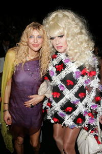 Courtney Love and Lady Bunny at the Mercedes-Benz Fashion Week Spring 2008.