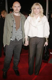 Billy Corgan and Courtney Love at the premiere of