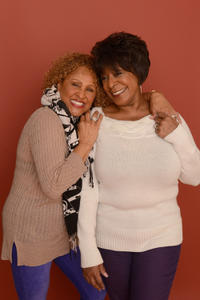 Darlene Love and Merry Clayton at the portrait session of