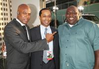 Damon Lee, Chuck Bush and Faizon Love at the premiere of