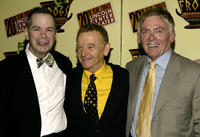Peter Bartlett, John Byner and Daniel Davis at the opening night party for