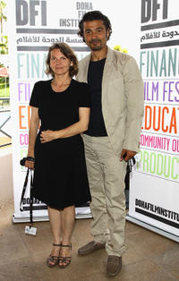 Khaled Nabawy and Guest at the DFI Egyptian Filmmakers Lunch during the 64th Annual Cannes Film Festival.