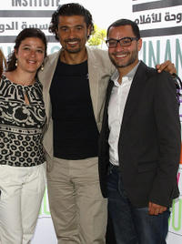 Poussy Shalaby, Khaled Nabawy and Guest at the DFI Egyptian Filmmakers Lunch during the 64th Annual Cannes Film Festival.