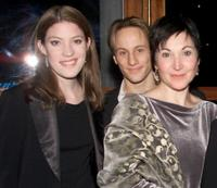 Jennifer Carpenter, Kevin Isola and Robin Bartlett at the opening night party of