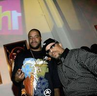 Ed Lover and Ice-T at the VH1's 2005 Hip Hop Honors Pre-party.