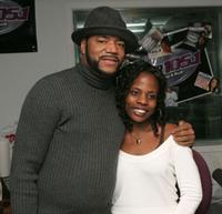 Ed Lover and Keisha Mack at the radio station Power 105.1.