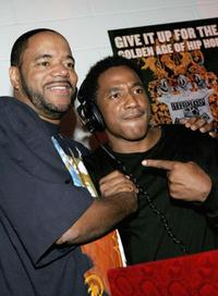Ed Lover and Q-Tip at the VH1's 2005 Hip Hop Honors Pre-party.