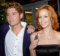 Julian Morris and Lindy Booth at the premiere of