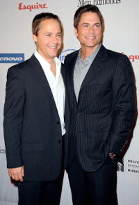 Chad Lowe and Rob Lowe at the Hollywood Entertainment Museum's Hollywood Legacy Awards XI.