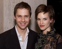 Chad Lowe and Hilary Swank at the premiere of